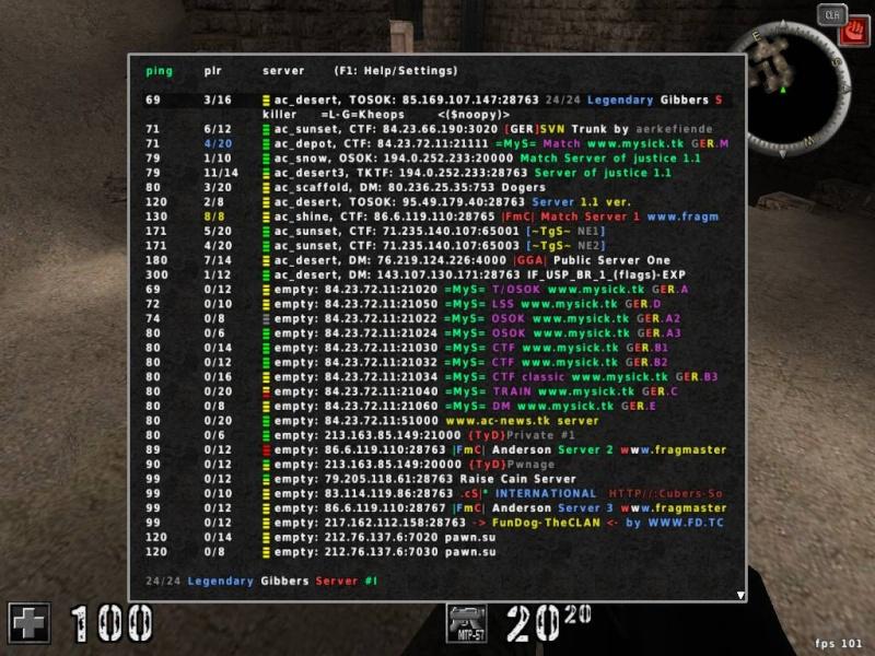 [Probleme]Liste de Server Serveu10