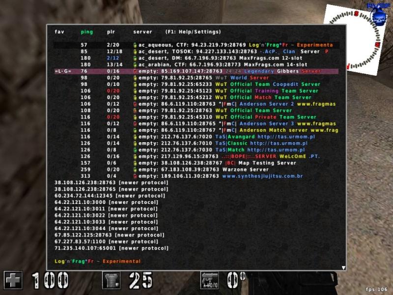 [Probleme]Liste de Server Serveu11