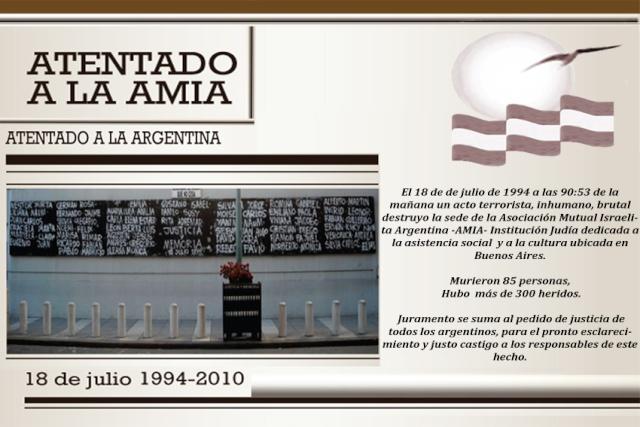 A 16 años del Atentado  Amia1612