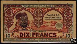 Billets Algériens pour camp de prisonniers 1940 10_fra10