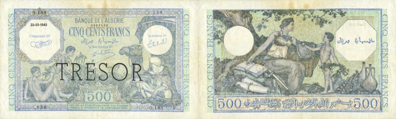 Emissions d'Algérie en billet avant 1962 Combin10