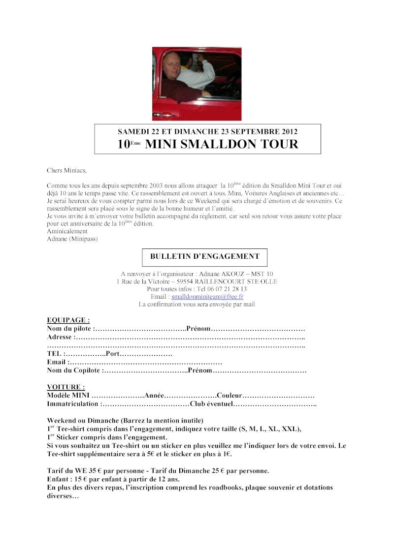 10ème MINI SMALLDON TOUR 22 et 23 Septembre 2012 Bullet10