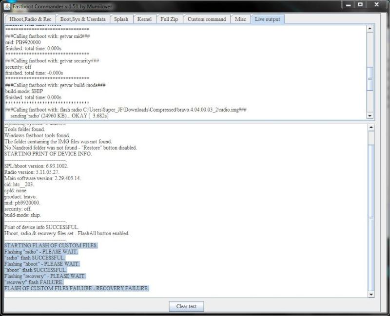 [AIDE] Ecran bloquer sur page d'accueil (page blanche + htc vert) suite à une tentative de ROOT sur HTC désire =( - Page 2 Echec10