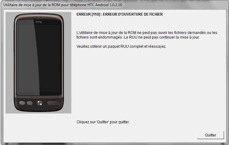 [AIDE] Ecran bloquer sur page d'accueil (page blanche + htc vert) suite à une tentative de ROOT sur HTC désire =( Erreur11