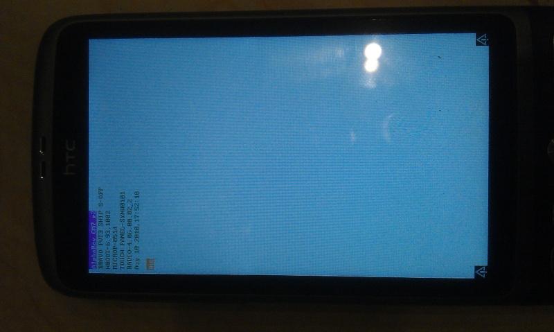 [AIDE] Ecran bloquer sur page d'accueil (page blanche + htc vert) suite à une tentative de ROOT sur HTC désire =( Imag0210