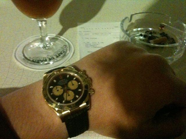 De retour à Monaco avec ma nouvelle montre Vuca610