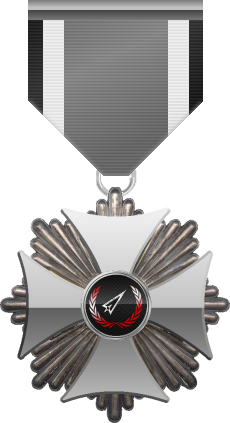 Silver level of Silver Cross of the Silver Arrows - This award is given to a member who distinguished in a number of Community Events. Silver level is the second of six.