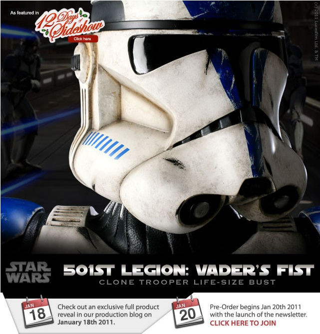 Sideshow - 501 Clone Trooper - Life Size Bust Clone10