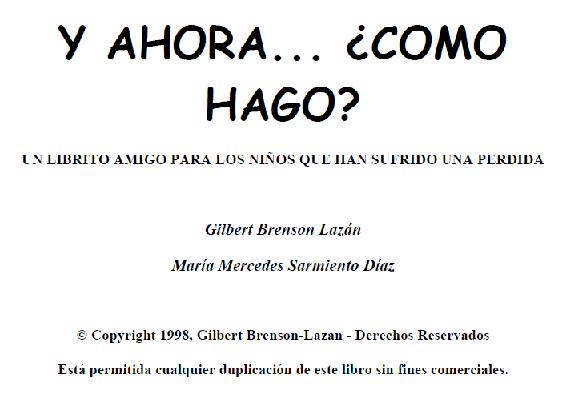 """LIBRO """"¿Y AHORA... COMO HAGO? - Libro para trabajar pérdidas y traumas con niños Y_hora10"""