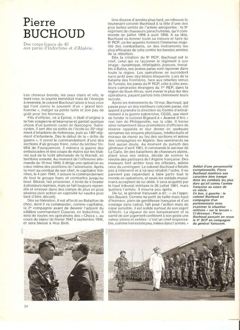 Pierre BUCHOUD, des corps francs de 40 aux paras d'Indochine et d'algérie Numari18