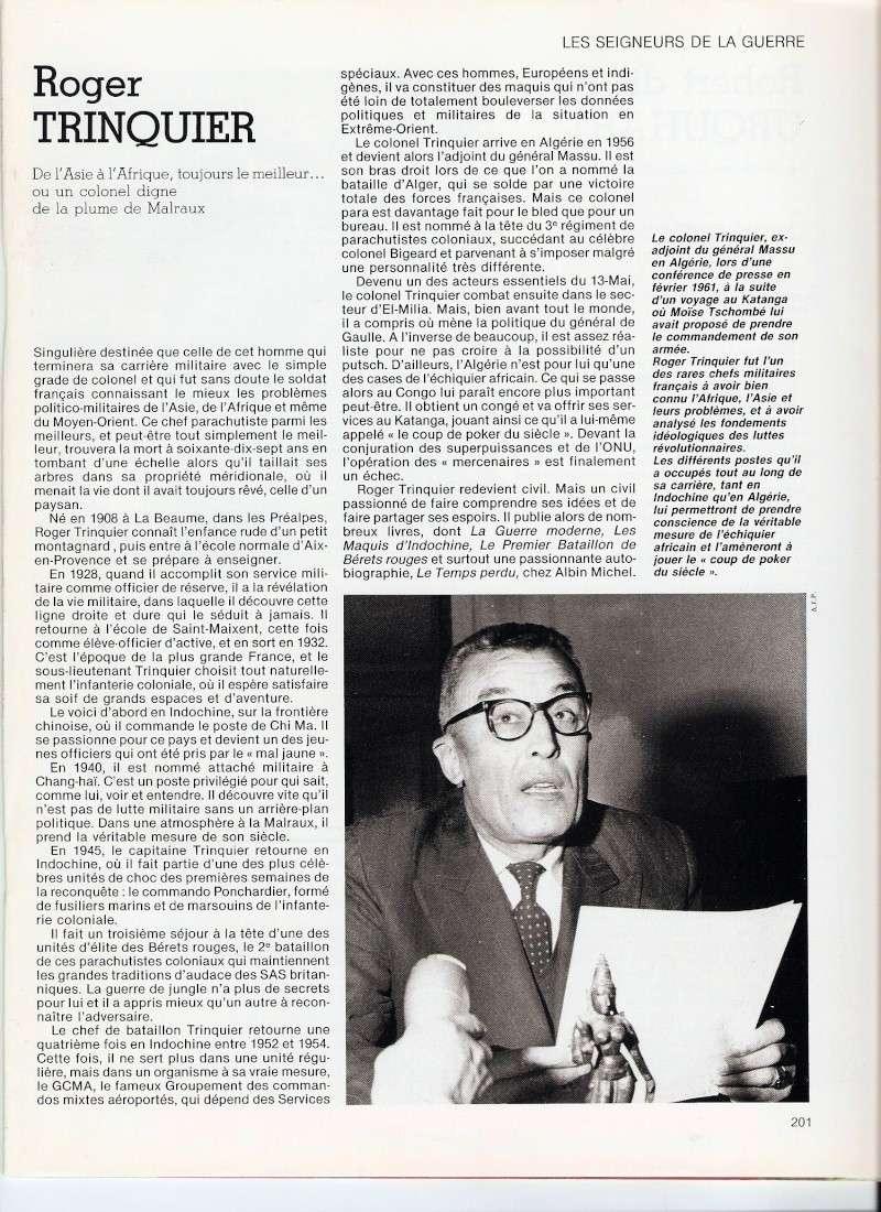 TRINQUIER Roger - Colonel - 1963-1965 1er président Union Nationale des Parachutistes Numari20