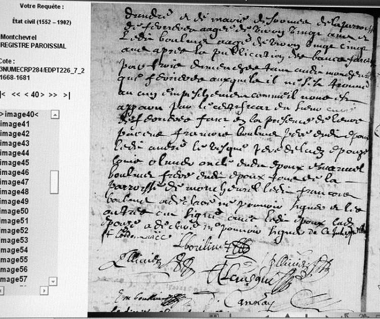 Montchevrel - BOULIVET LEVESQUE (aide au déchiffrage) X_167210
