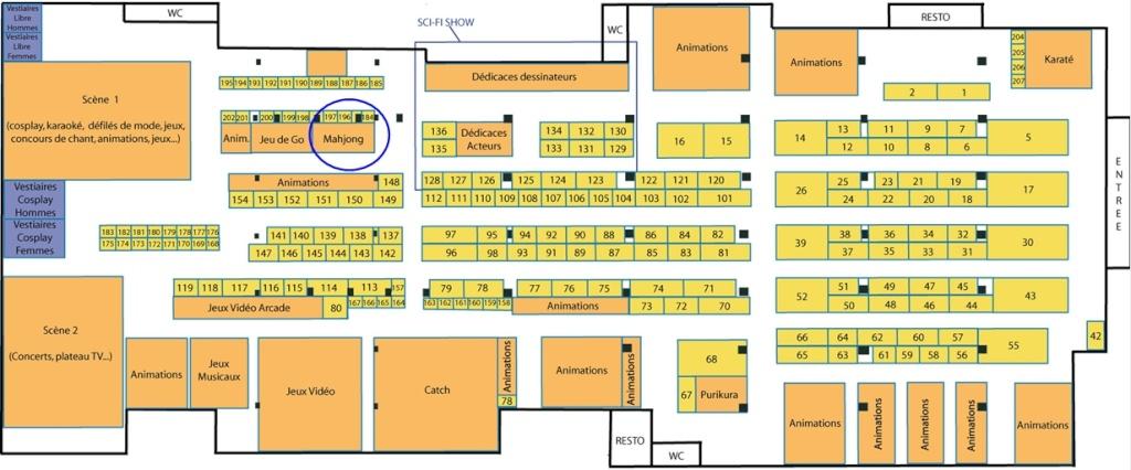 PARIS MANGA 11 - 5 et 6 Février 2011 Planpm12