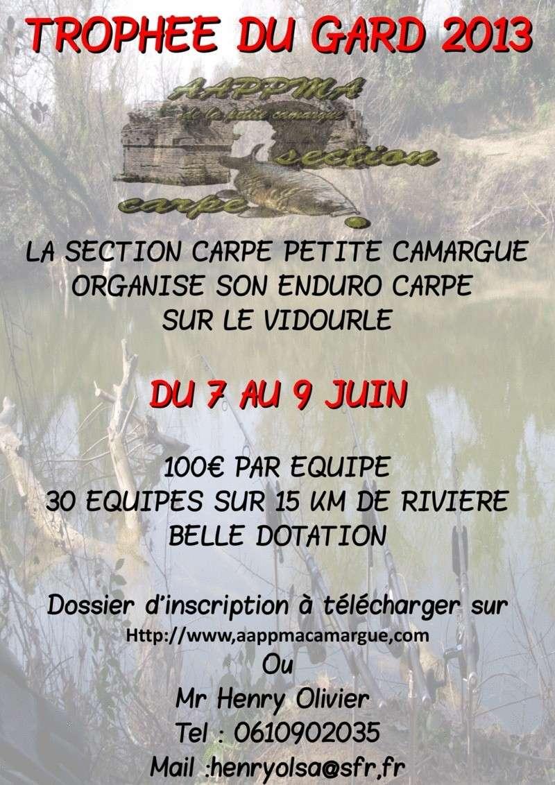 Trophée du Gard 2013 sur  le vidourle  Affich12