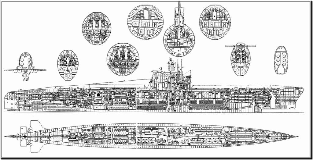 Sous-marin Soviétique Classe ZULU (project 611) 1/350 611pla10