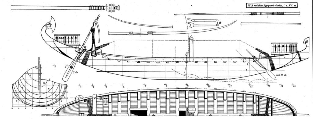 Barque pharaonique - 1/72 - Scratch et impression 3d Table010