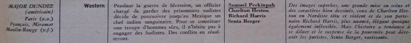 Major Dundee . 1964 . Sam Peckinpah. Dundee10
