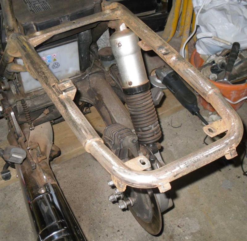 My 1988 K100LT (renovation) Tidy - up!! Rear210