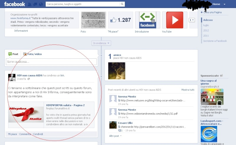 Risoluzione primo quesito  Facebo11