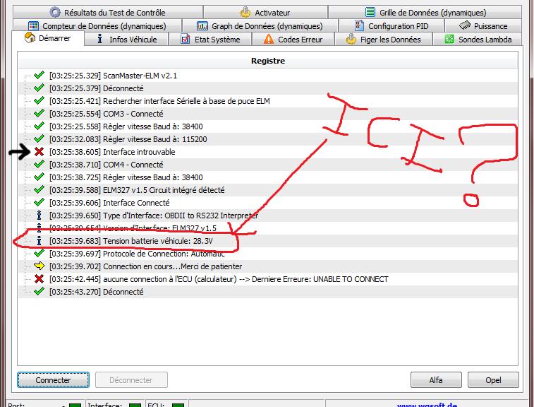scanmaster interface introuvable Sansti10