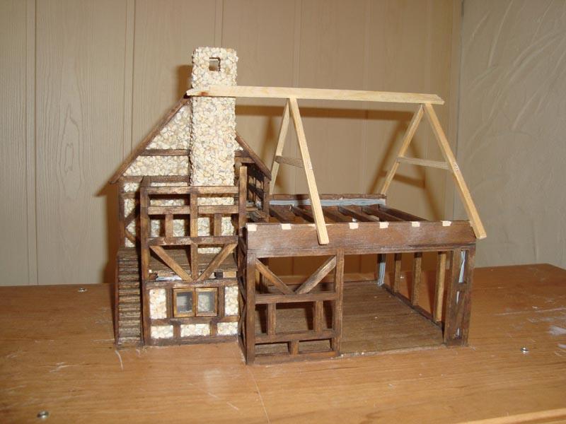 Fachwerkhaus mit Wasserrad Haus3010