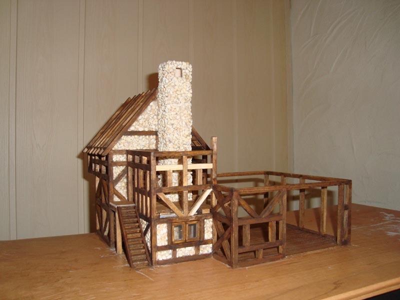 Fachwerkhaus mit Wasserrad Haus710