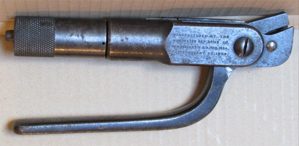 Présentation de l'outil Winchester 1894 en 30WCF 20210111