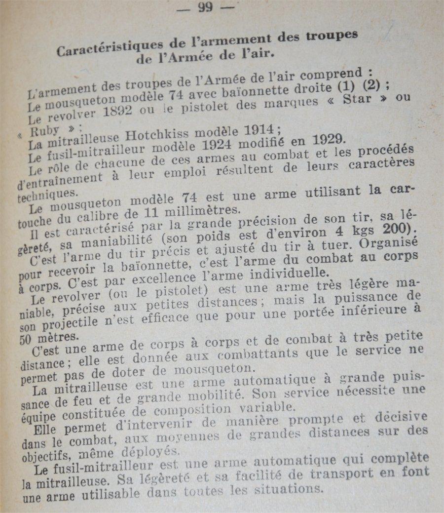 Fusils et carabine Gras dans l'armée de l'air en 1938-1940 20210212