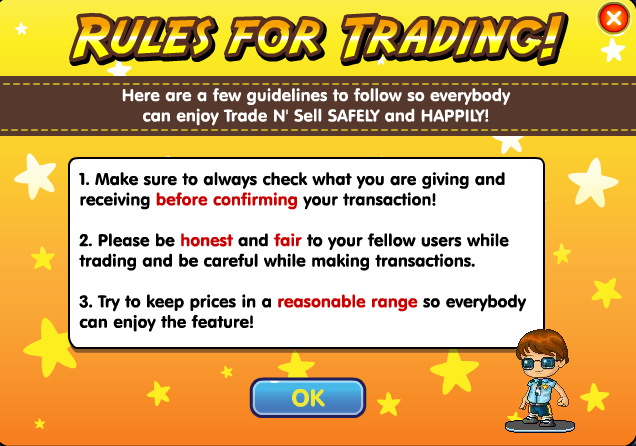 Fantage new trading rules Rules10