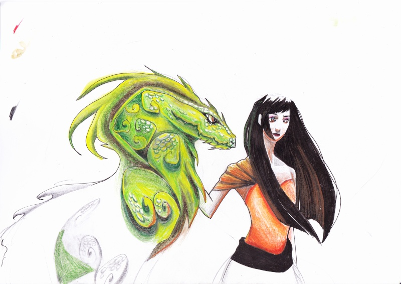 madame et son dragon aux crayons aquarellables [noony4] Dragon12