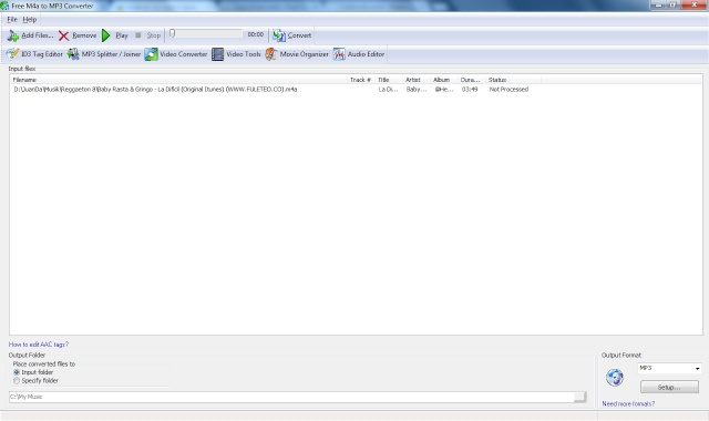 Convertidor M4a (AAC, Formato de Itunes) a MP3 Free Portable Captur10