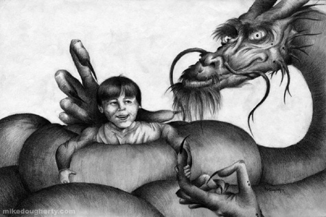El arte tétrico de Mike Dougherty Fantas11