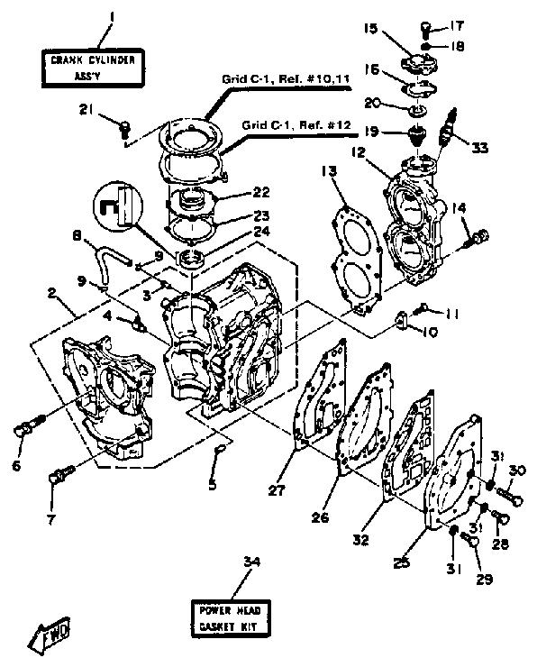 reconstruction à neuf d'un YAM 30Cv / 2 tps  (mon nouveau yamaha) Crankc10