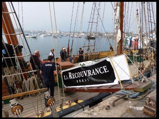 [ Marine à voile ] LA RECOUVRANCE A BARFLEUR Bar210
