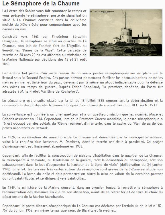 [ Les sémaphores - divers ] L'ANCIEN SEMAPHORE DE LA CHAUME Chaume11