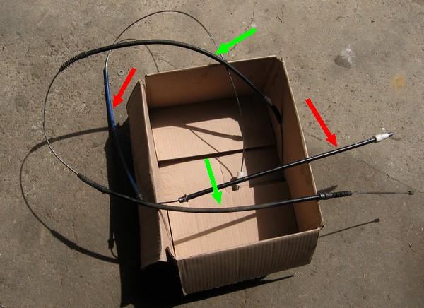 Fabrication d'un câble de frein à main. 2005-015