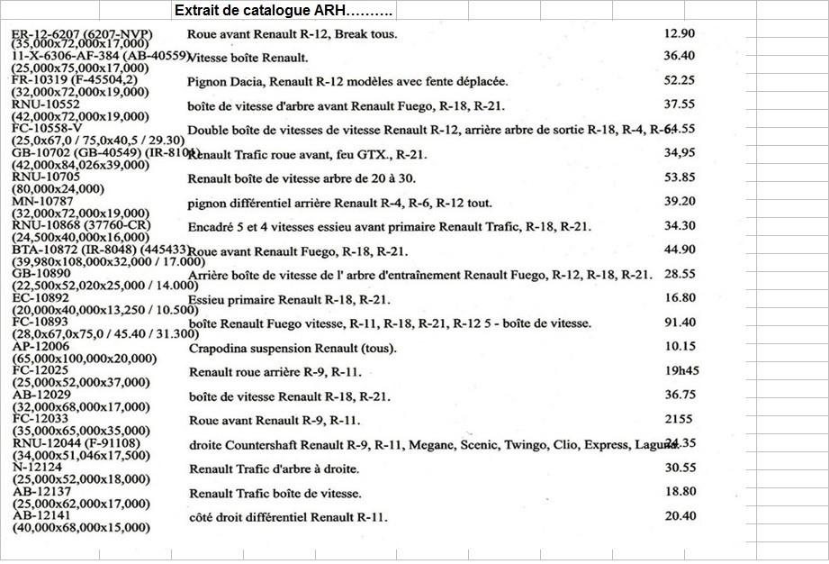 Boites 330 (R8) aux boites NG5 (R5 alpine turbo) roulements Arh_p210