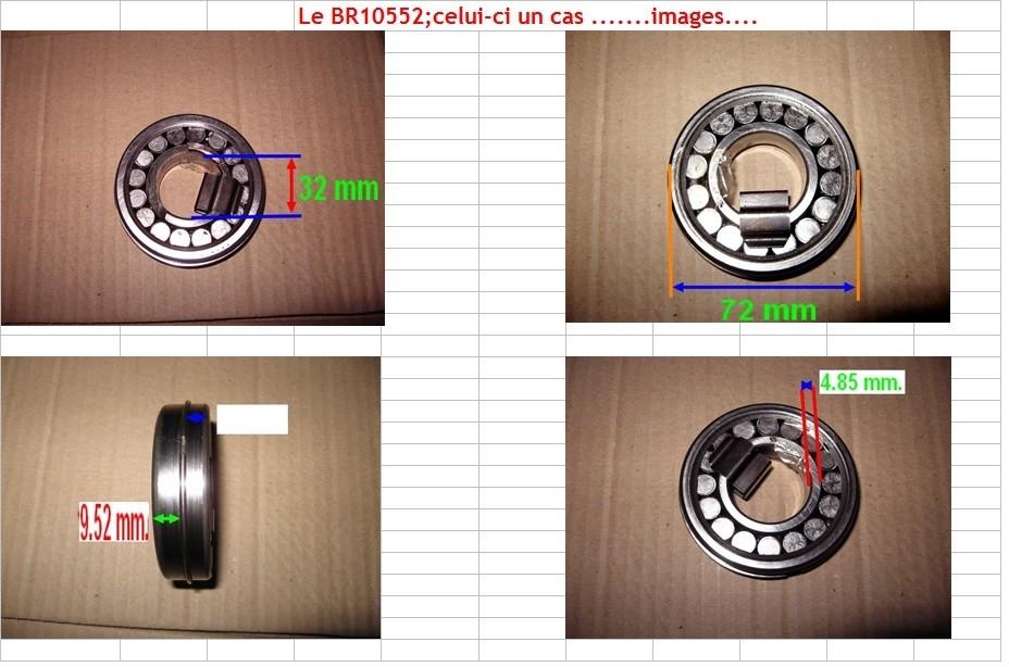Boites 330 (R8) aux boites NG5 (R5 alpine turbo) roulements Br105515