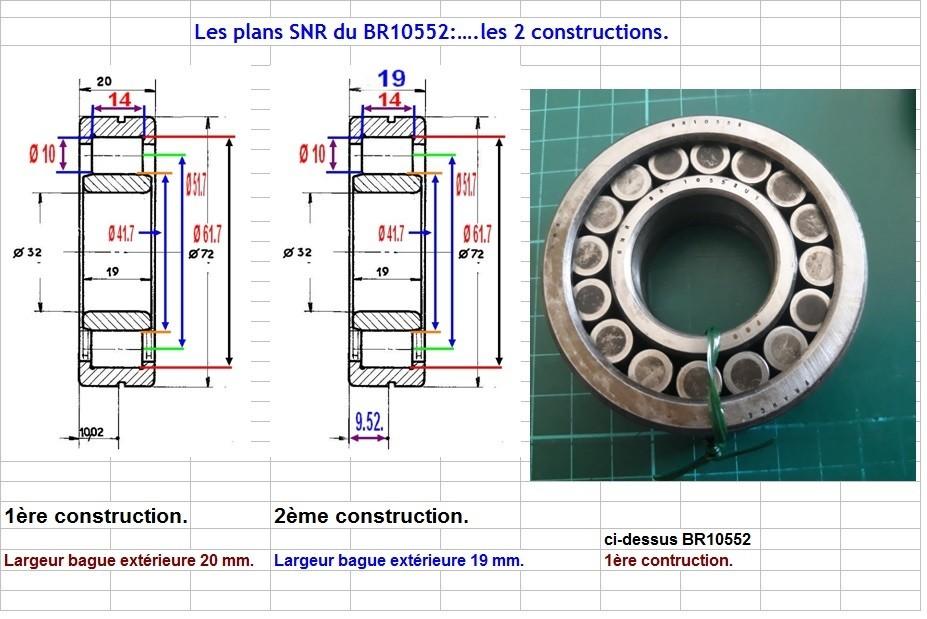 Boites 330 (R8) aux boites NG5 (R5 alpine turbo) roulements Br105517