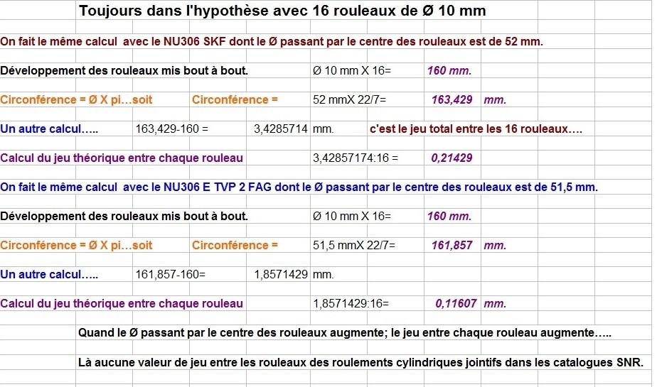 Boites 330 (R8) aux boites NG5 (R5 alpine turbo) roulements Calcul22