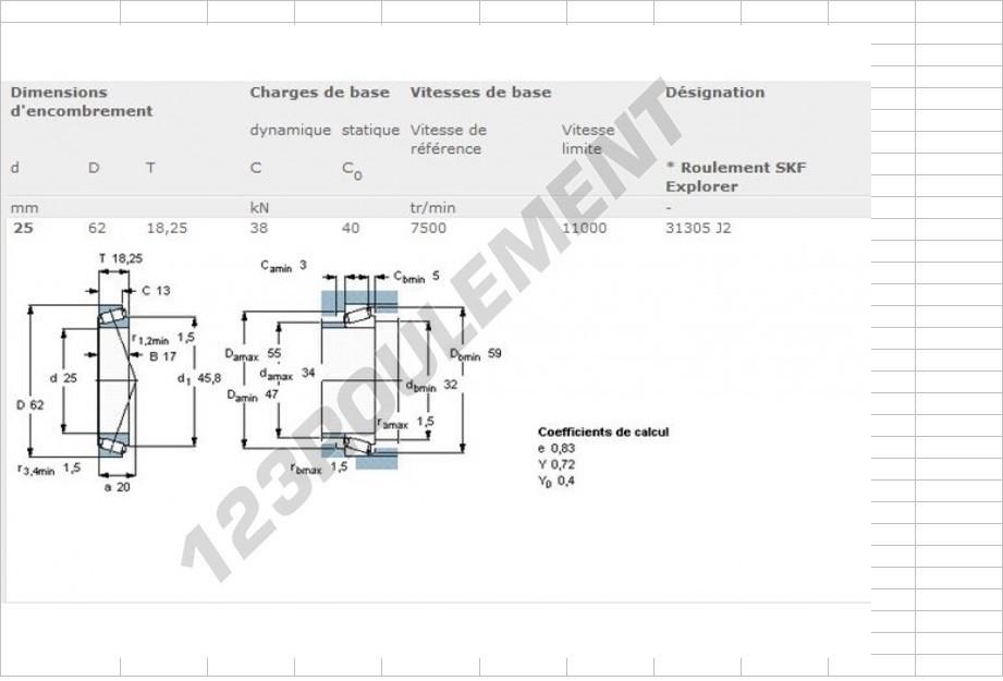 Boites 330 (R8) aux boites NG5 (R5 alpine turbo) roulements Fc105514