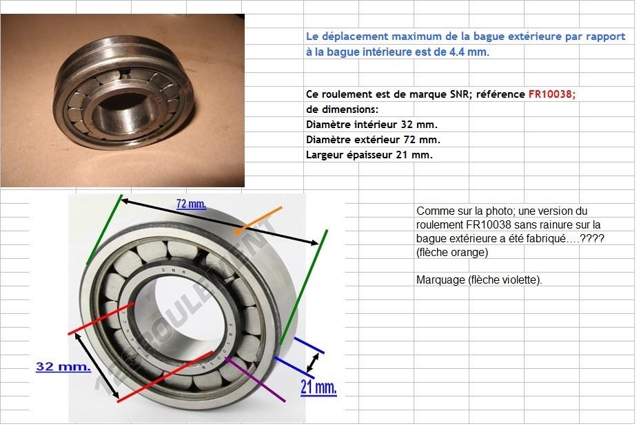 Boites 330 (R8) aux boites NG5 (R5 alpine turbo) roulements Fr100311