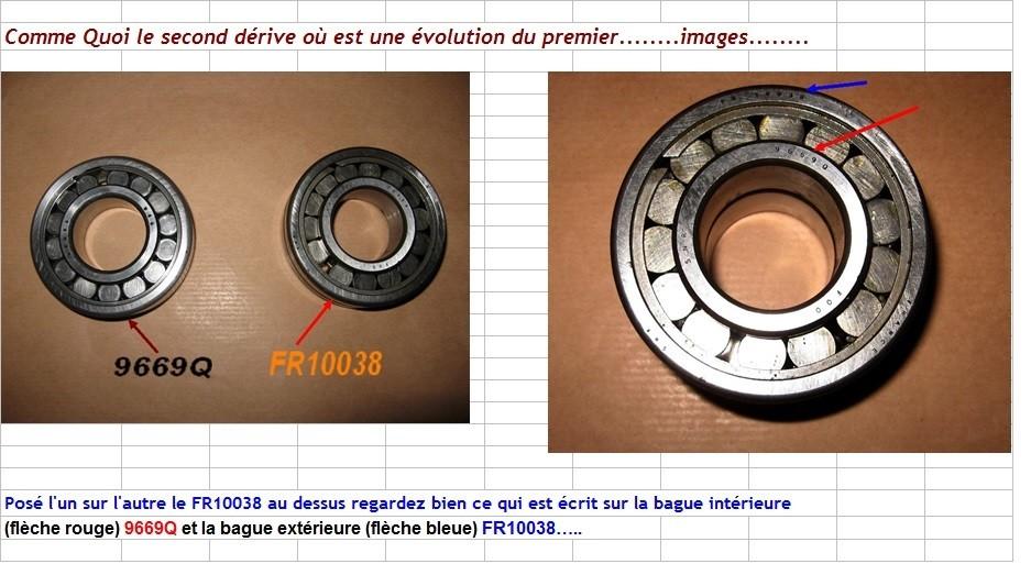 Boites 330 (R8) aux boites NG5 (R5 alpine turbo) roulements Fr100312