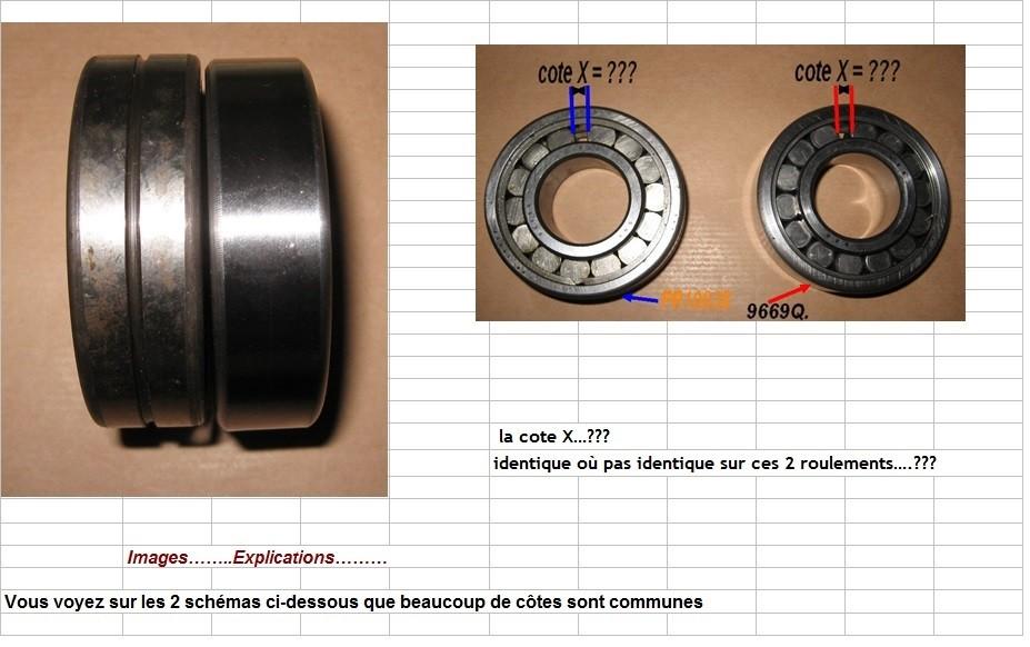 Boites 330 (R8) aux boites NG5 (R5 alpine turbo) roulements Fr100313
