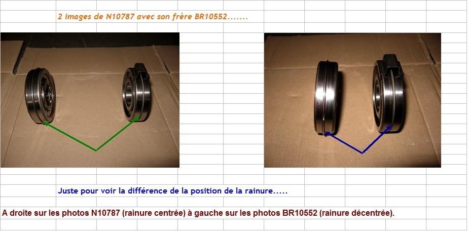 Boites 330 (R8) aux boites NG5 (R5 alpine turbo) roulements N1078711