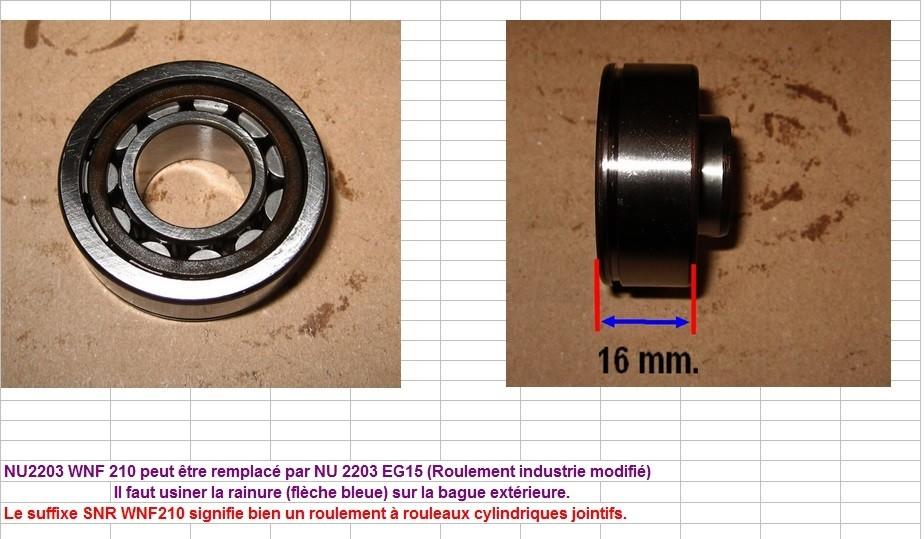 Boites 330 (R8) aux boites NG5 (R5 alpine turbo) roulements Nu_22014