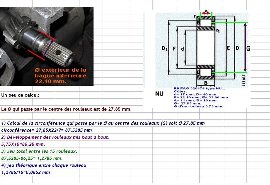 Boites 330 (R8) aux boites NG5 (R5 alpine turbo) roulements Nu_22018