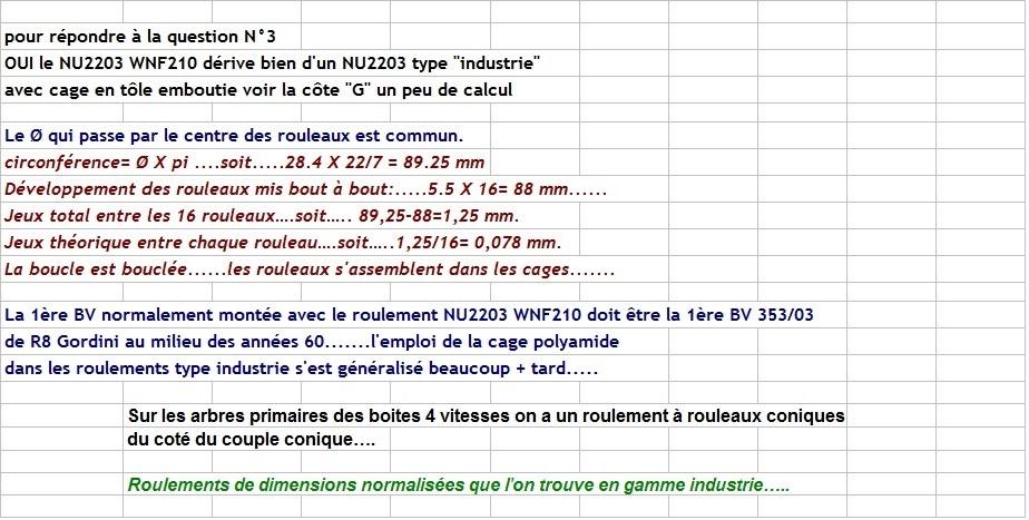 Boites 330 (R8) aux boites NG5 (R5 alpine turbo) roulements Nu_22026