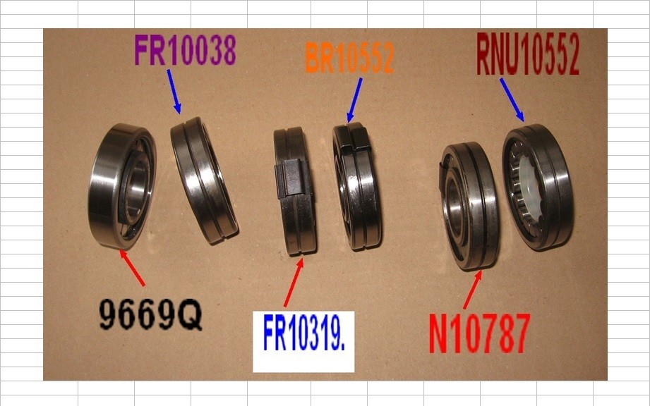 Boites 330 (R8) aux boites NG5 (R5 alpine turbo) roulements Rpa_p211