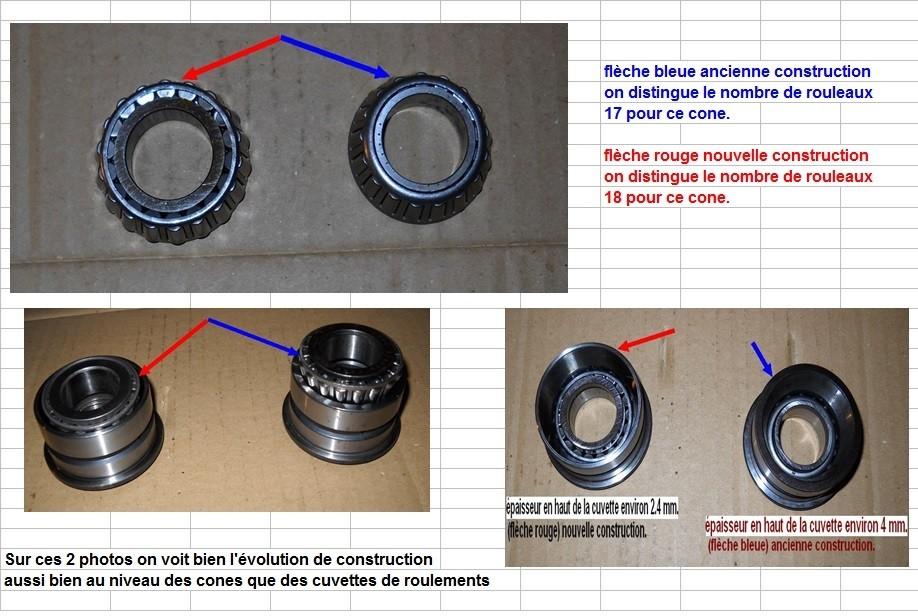 Boites 330 (R8) aux boites NG5 (R5 alpine turbo) roulements X10d3017